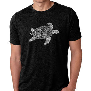 Premium Blend Word Art T-shirt - Turtle